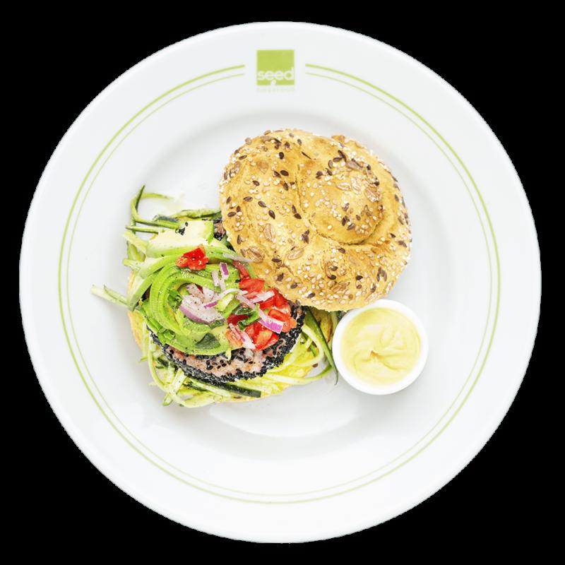 burger tuna burger seed superfood
